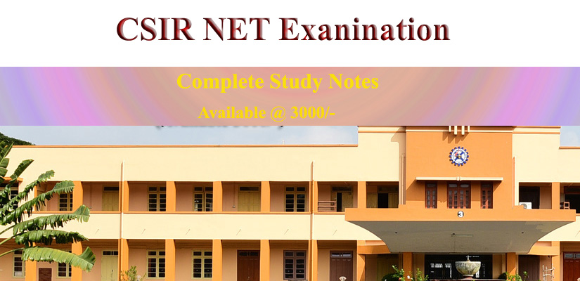 CSIR NET June 2019 Study Notes