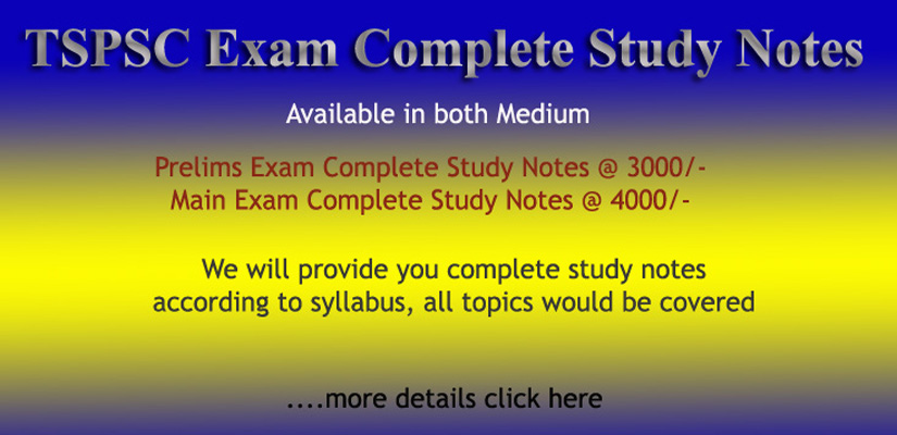 TSPSC Complete Study Notes 2019